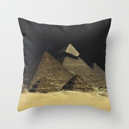 Space Pyramids Throw Pillow