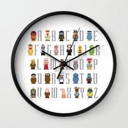 Pixel Muppet Show Alphabet Wall Clock