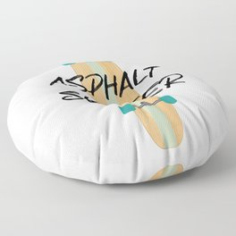 Asphalt Surfer 1 Longboard Floor Pillow