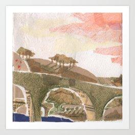 Medieval town - 4 Art Print