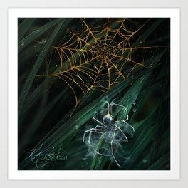 Gold Webs Art Print