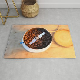 coffee beans in the coffee mill Rug