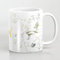 dogs Mugs featuring DOGS by Sara Stefanini
