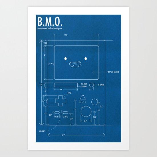 B.M.O. Entertainment Artificial Intelligence (Front) Art Print