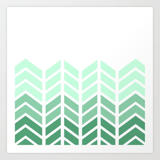 OMBRE LACE CHEVRON Art Print