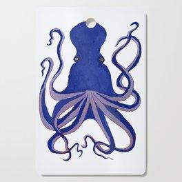 Octopus Blue Cutting Board