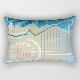 financial background Rectangular Pillow