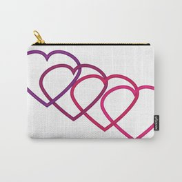 Interlocking Purple Hearts Carry-All Pouch