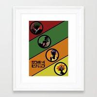 bebop Framed Art Prints featuring Bebop Team by AngoldArts