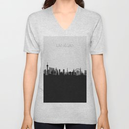 City Skylines: Las Vegas (Alternative) Unisex V-Neck