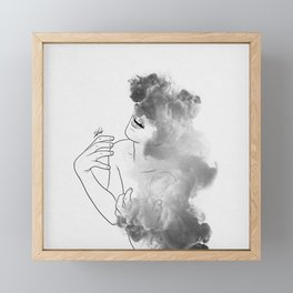 War of thoughts. Framed Mini Art Print