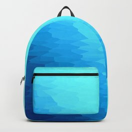 Turquoise Blue Texture Ombre Backpack