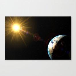 sun, earth and the moon Canvas Print