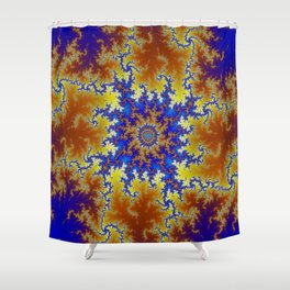 Fractal Checkerboard Shower Curtain