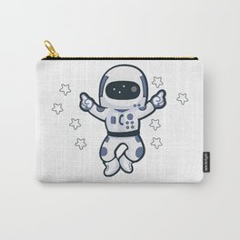 Astronaut Flying Across the Stars in Space While Dancing Carry-All Pouch