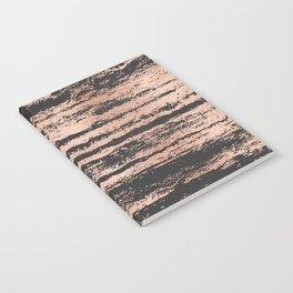 Marble Black Rose Gold - Never Mind Notebook