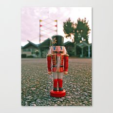 Bowling nutcracker Canvas Print