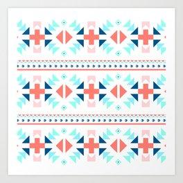 geometry navajo pattern Art Print