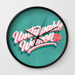 Unstoppable Women Wall Clock