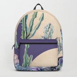 Desert Sun + Gemstones Gold Deep Purple Backpack