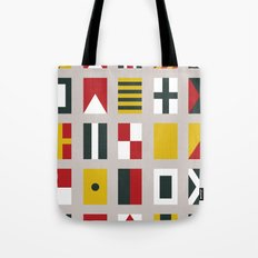 Nautical Flags Tote Bag