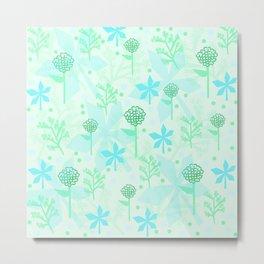 delicate floral pattern Metal Print
