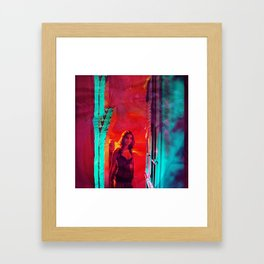 Colorblind Doorways Framed Art Print
