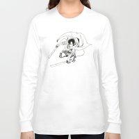 levi Long Sleeve T-shirts featuring Levi Ackerman: Humanities Strongest by Reira Hoshikuzu