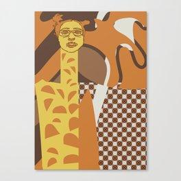 Giraffe wannabe Canvas Print