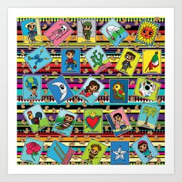 Loteria Night Art Print