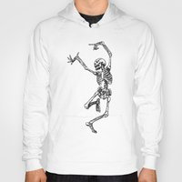 tupac Hoodies featuring Dancer Skeleton by Hottest Dog In Town