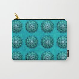 Elegant Turquoise Watercolor Mandala Carry-All Pouch