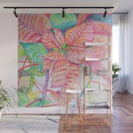 Poinsettia Wall Mural