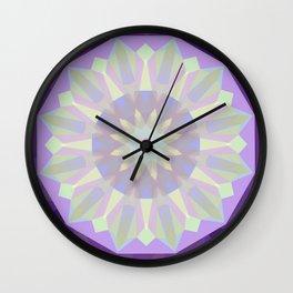 Round Iridescent Geometric Background Wall Clock