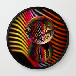 Rainbows two in the glass ball. Wall Clock