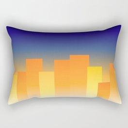 Simple City Sunset Rectangular Pillow