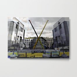 all the levers hovering around. Clever ones tended Metal Print