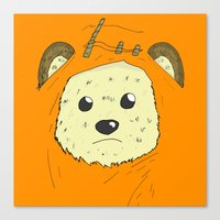 ewok Canvas Prints featuring Ewok by Demonology7789
