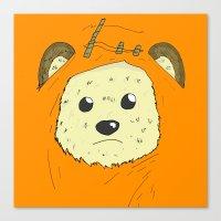ewok Canvas Prints featuring Ewok by Demonology7789