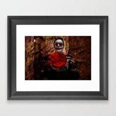 Burning Desires of Broken Glass Framed Art Print