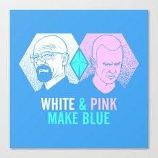 WHITE & PINK MAKE BLUE Canvas Print
