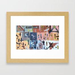 Colourful Chaos II Framed Art Print