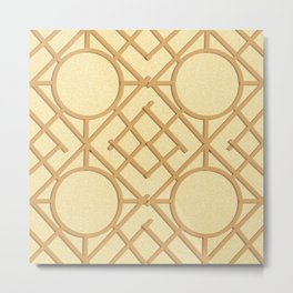 Wooden Trellis Metal Print