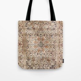 Silk Esfahan Persian Carpet Print Tote Bag