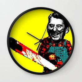 Chainsaw Reagan Wall Clock