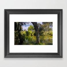 On the banks of the Thompson River Framed Art Print