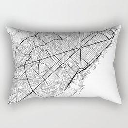 Barcelona Map White Rectangular Pillow