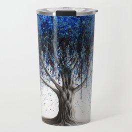 Blue Moonlight Tree Travel Mug