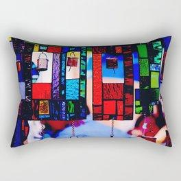 Glass Wind Chimes Rectangular Pillow