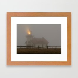 Cabrillo Lighthouse Mendocino California Framed Art Print